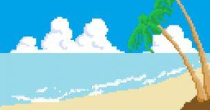 デジタルワールドの海岸